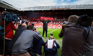 Mourinho is officially unveiled as the new Manchester United manager at Old Trafford on 5 July