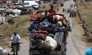 Refugees flee Deraa