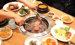 Classic Korean barbecue at Saebyukjib restaurant