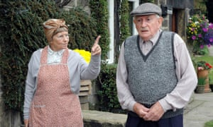 Juliette Kaplan as Pearl Sibshaw gives her husband, Howard (Robert Fyfe), a dressing-down in Last of the Summer Wine.