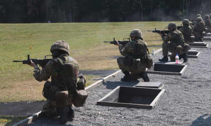 Female British Army recruits.