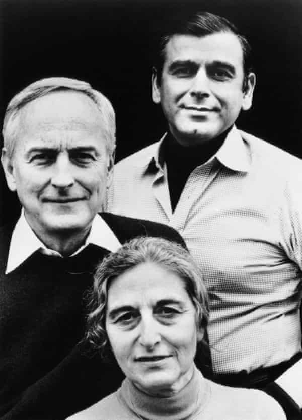 Ruth Prawer Jhabvala with James Ivory (left) and Ismail Merchant, in 1984.