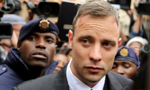 Oscar Pistorius leaving the high court in Pretoria in June 2016.