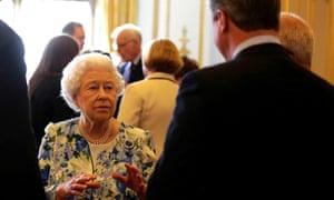The Queen speaks to David Cameron