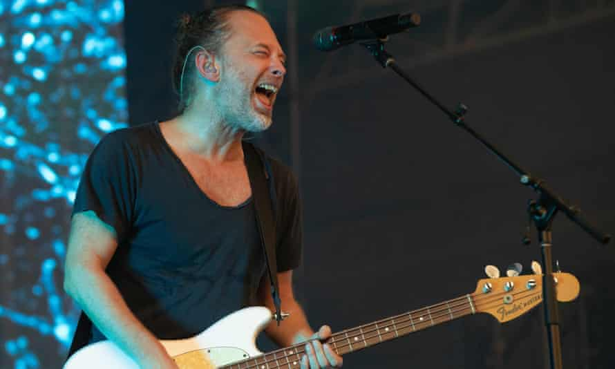 Thom Yorke sings and plays bass