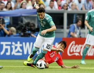 Ozil, taken down by Koo.