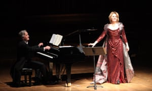 Renée Fleming with Hartmut Höll at the Barbican on Wednesday.