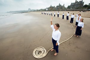 Out of Water performed at Portobello Beach in 2014.