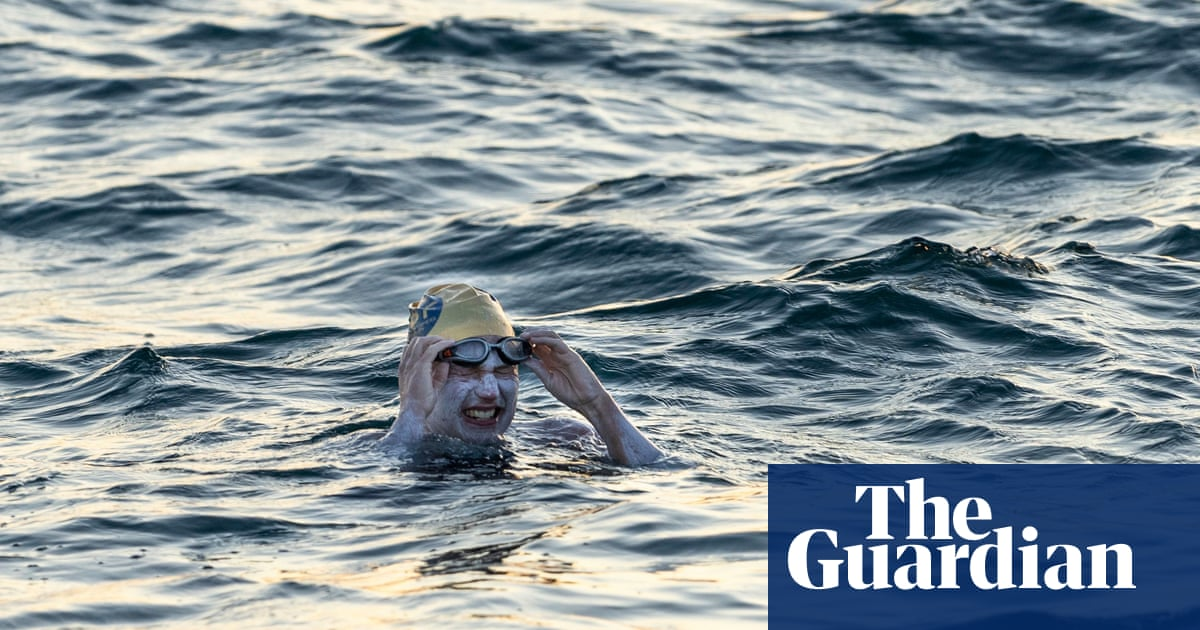 Cancer survivor is first person to swim the Channel four times non-stop