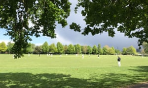 Happier times: Camel CC playing against Clapton & Oval in the North East London Cricket League at Springfield Park last season