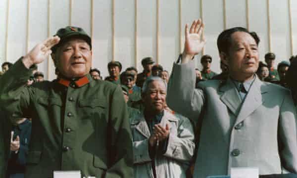 Deng Xiaoping, left, and General-Secretary Hu Yaobang, 1981.