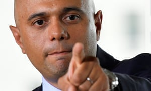 FILE PHOTO: Britain's Secretary of State for the Home Department, Sajid Javid, makes a speech outlining an overhaul of UK counter-terror strategy in central London, Britain, June 4, 2018. REUTERS/Toby Melville/File Photo