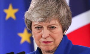 Theresa May holds a news conference in Belgium
