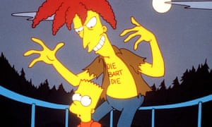 We've been this way before: Bart and Sideshow Bob all the way back in 1993.