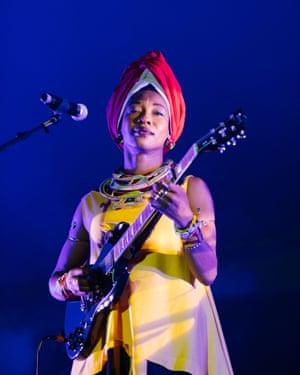 Malian singer and activist Fatoumata Diawara.
