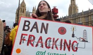 Female fracking protester