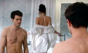 Jamie Dornan and Dakota Johnson in the film adaptation of Fifty Shades of Grey (2015). Photograph: Allstar/Focus Features