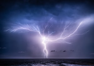 On this night there were so many strikes from multiple cells, with a few exceptional bolts like this crawler-CG combo.