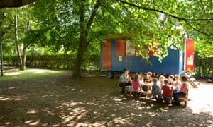 A forest kindergarten near Hamburg, Germany: 'We could create classrooms in real forests for every primary school so children could learn outside one day a week.'