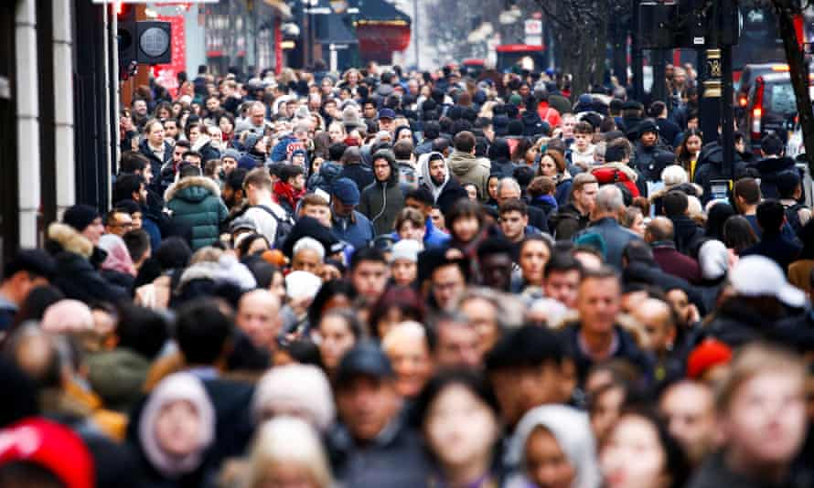 Shoppers during on Oxford Street in central London