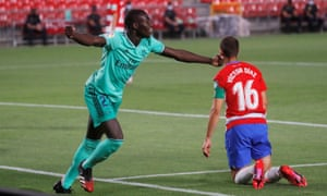 Ferland Mendy became the 20th Real Madrid player to score in La Liga this season when he got the opener at Granada.