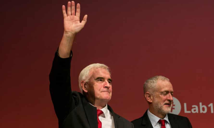 John McDonnell and Jeremy Corbyn at the Labour party conference september 2017