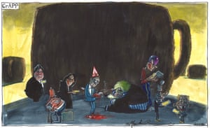 Martin Rowson cartoon 20/06/20: Tory ministers and Cummings on their mobiles