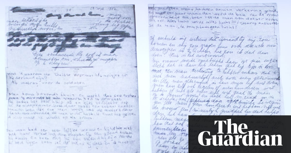 Anne Frank's 'dirty' jokes found on diary pages she covered over thumbnail