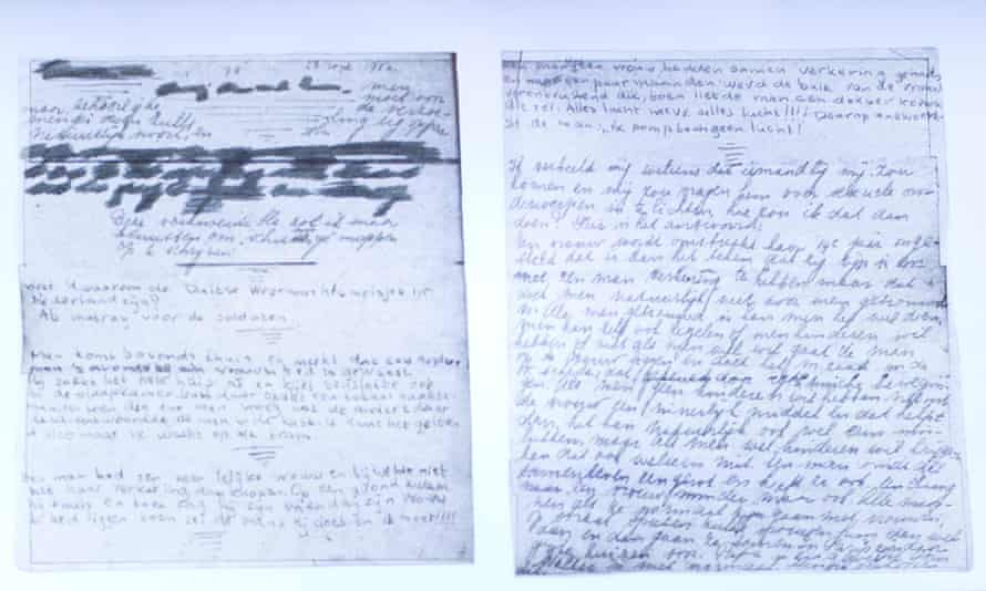 The text underneath two taped-off pages from Anne Frank's diary. The passages include candid explanations of sex, contraception and prostitution