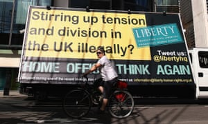 """Liberty's response to the Home Office's advertising vans telling illegal immigrants to """"go home or face arrest""""."""