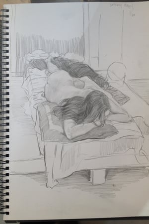 A drawing of Alexandra Leigh