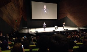 Actor Bruce Campbell takes the stage at Oz Comic-Con Melbourne on Saturday.