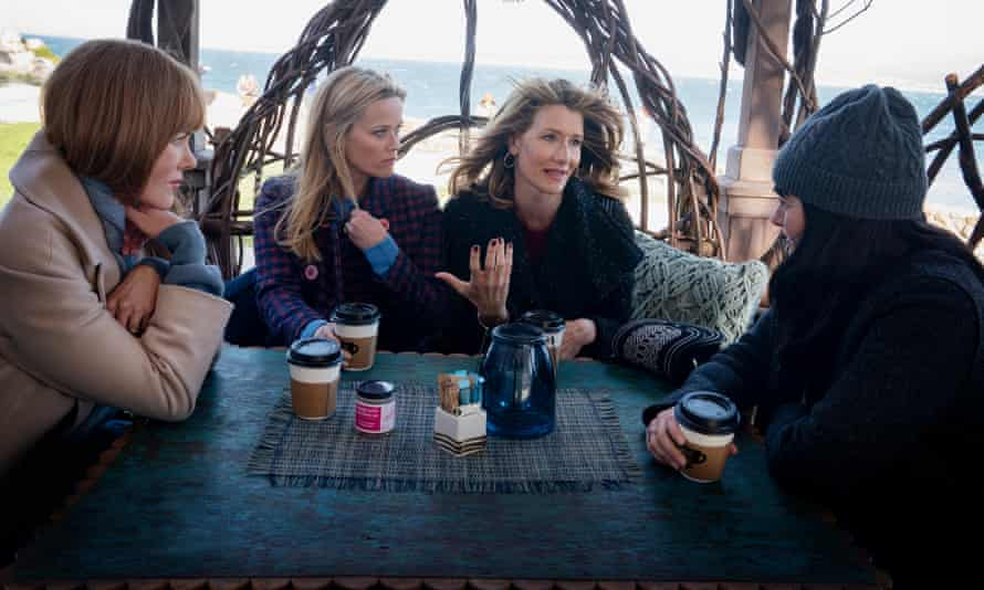 Top-quality business as usual ... Nicole Kidman, Resse Witherspoon, Laura Dern and Shailene Woodley in Big Little Lies.
