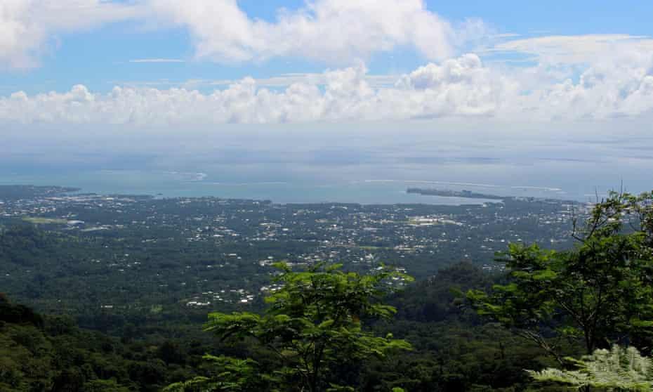 A view of the Samoan capital, Apia