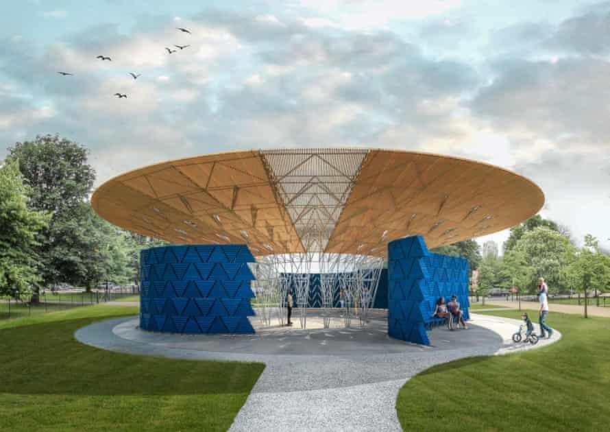 Francis Kéré's design for the Serpentine pavilion.