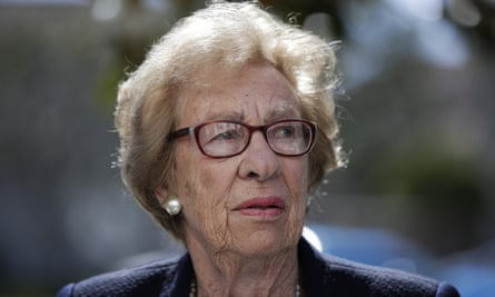 Eva Schloss met with California high school students who were photographed giving Nazi salutes around a swastika formed by drinking cups at a party.