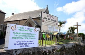 A banner on the fence of a chapel in Carbis Bay