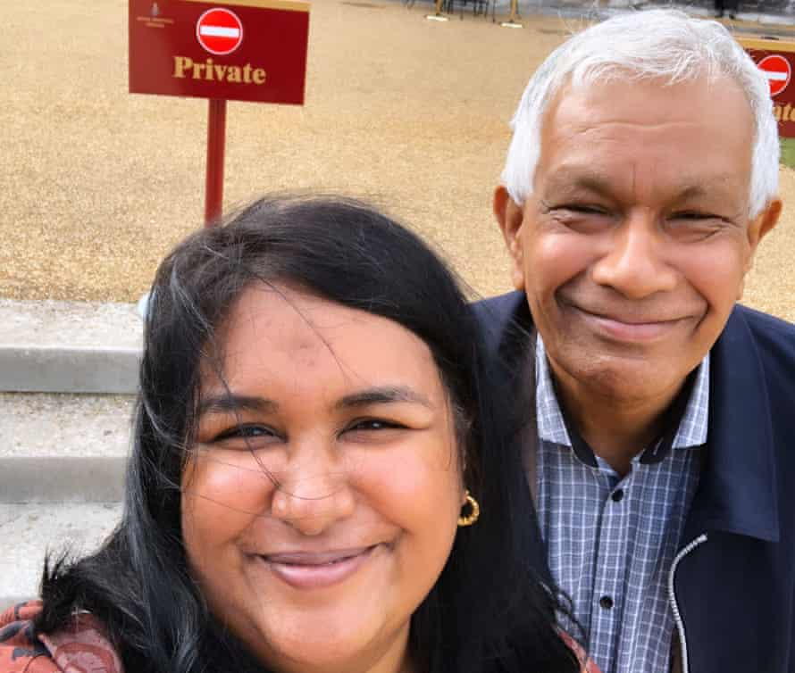 Leshie Chandrapala and her father, Ranjith
