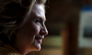 Democratic presidential candidate Hillary Clinton visits Dimond Hill Farm in Hopkinton, New Hampshire, on Tuesday.