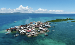 Ubay island, which, following an earthquake, is entirely flooded on some tides.