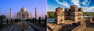 The Taj Mahal and Orchha.