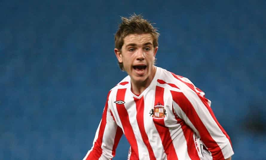 Jordan Henderson pictured during Sunderland's FA Youth Cup semi-final against Manchester City in March 2008.