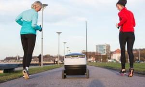 Delivery robots: a revolutionary step or sidewalk-clogging