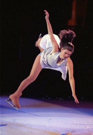 Nancy Kerrigan performs during the Festival on Ice skating extravaganza in Las Vegas in 1995.