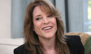 Marianne Williamson has written New York Times best sellers, most recently Tears to Triumph about 'the spiritual journey from suffering to enlightenment'.