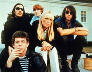 Lou Reed, lower left, with the Velvet Undeground: John Cale, Maureen Tucker, Nico and Sterling Morrison.