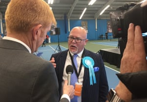 The newly elected MEP Brian Montieth talks about the Brexit party's success at the count for North East England in Sunderland