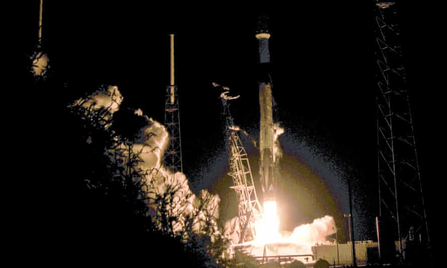 The first 60 Starlink internet satellites blasted into orbit, 24 May this year, aboard a SpaceX rocket lifting off from Cape Canaveral, in the US.