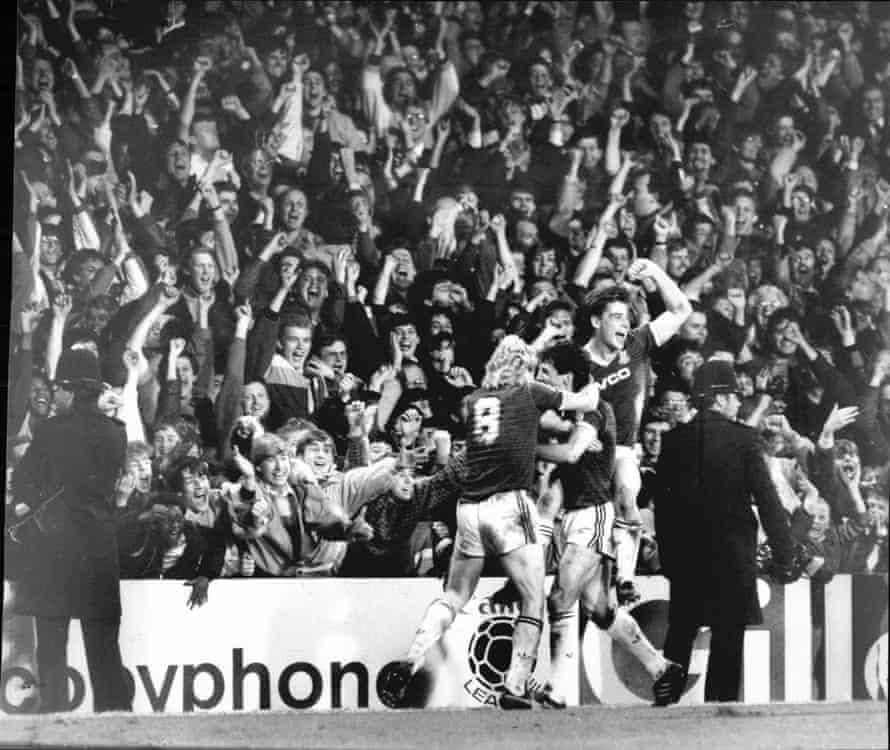 Scorer Ray Stewart Celebrates With Frank Mcavennie (left) And Tony Cottee. West Ham 2 Ipswich 1.