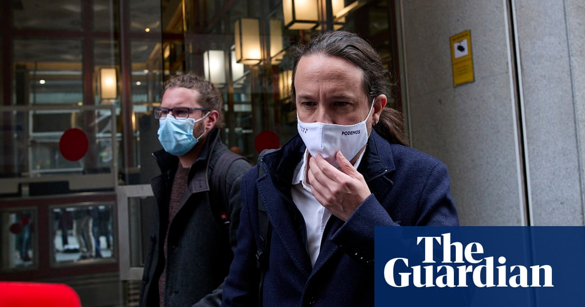 Pablo Iglesias walks out of Madrid debate in clash over death threat